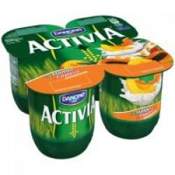 Activia Mango Yoghurt 4 x 125g