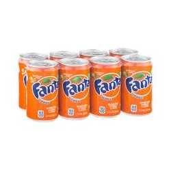 Fanta Orange Can x 8