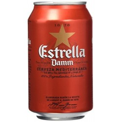 Estrella Damm can (6 pack)