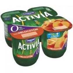 Activia Peach Yoghurt 4 x 125g