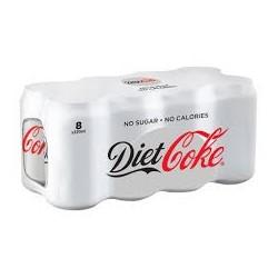 Coca Cola Light Can x 8